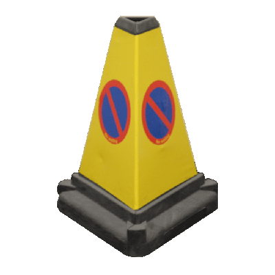 3 sided traffic cone